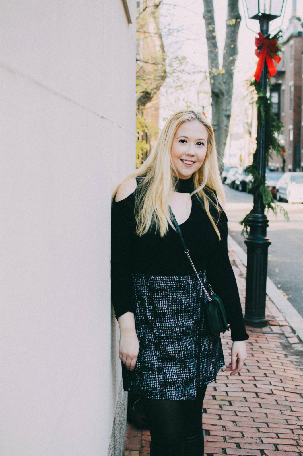 Blonde Walking on Beacon Hill in Boston