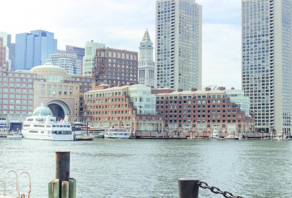 City view of boston harbor